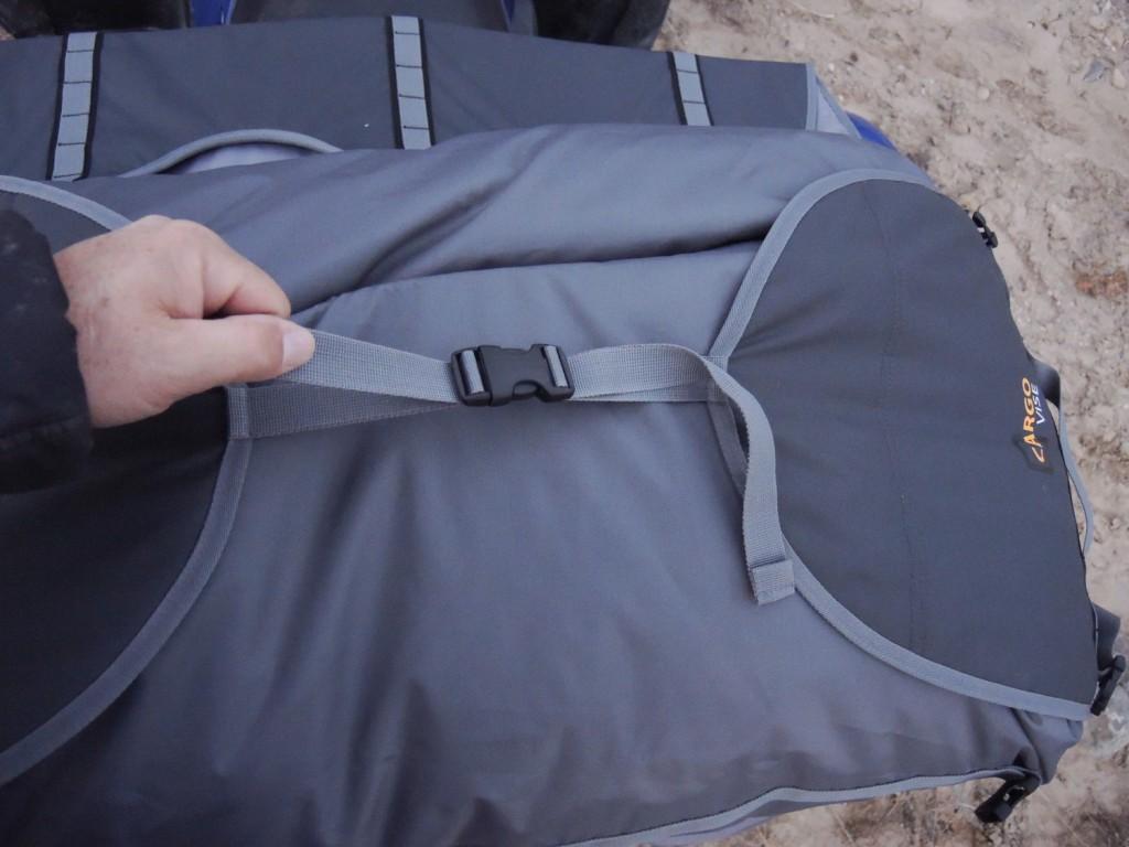 ATV cargo bag with adjustable straps