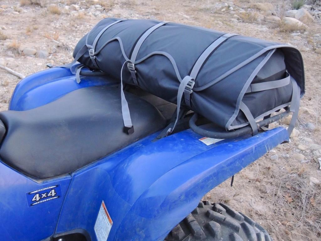 Adjustable cargo case for ATV